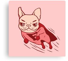 Super Frenchie has arrived for your rescue Canvas Print