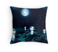 Moonlight Kodama Throw Pillow