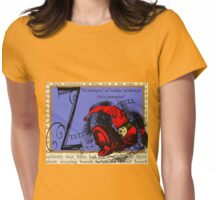 Alice in Wonderland and Through the Looking Glass Alphabet Z Womens Fitted T-Shirt