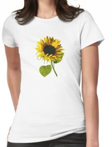 Sunflower Shadow and Light Womens Fitted T-Shirt