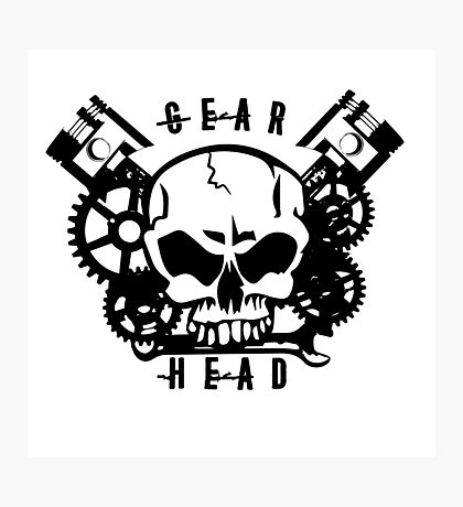 Gear Head Photographic Print