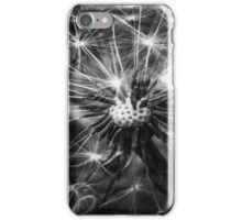 Dandelion Fluff - Black and White iPhone Case/Skin
