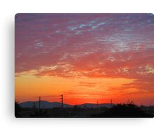 Bright Pacific Sunset  Canvas Print