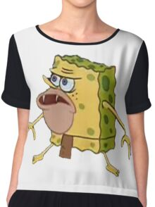 Spongebob caveman Chiffon Top