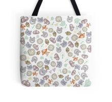 Forest Animal Pattern Tote Bag
