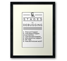 Debugging Framed Print