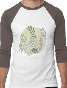 Leaves in a circle Men's Baseball ¾ T-Shirt
