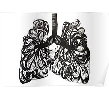 Lungs and Heart Poster