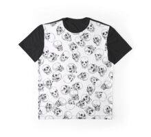 A Lot of Skulls White Graphic T-Shirt