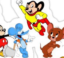Cartoon Mice, Mouse Sticker