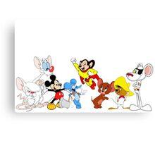 Cartoon Mice, Mouse Canvas Print