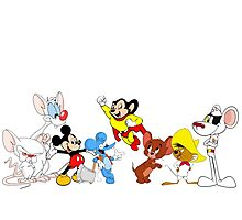 Cartoon Mice, Mouse Photographic Print