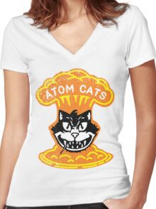Atom Cats! Women's Fitted V-Neck T-Shirt
