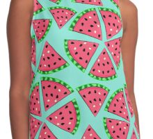 Watermelon Slice Party Contrast Tank