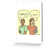 love/hate Greeting Card
