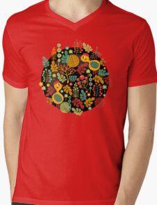 Bird in red hat Mens V-Neck T-Shirt