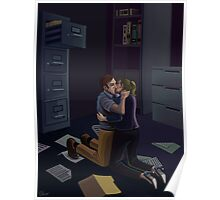 Office Kiss Poster