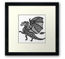 Zentangle Dragon Framed Print
