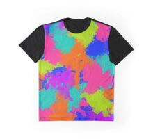 Multicoloured ink! Graphic T-Shirt