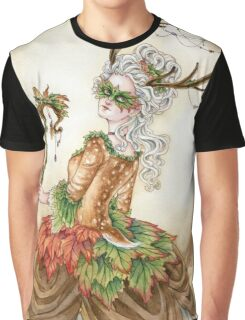 Forest Finery - Rococo Deer or Faun girl  Graphic T-Shirt