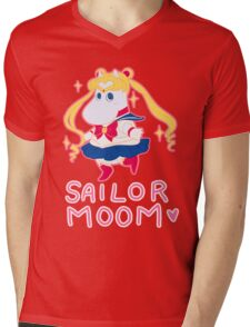 Sailor Moom Mens V-Neck T-Shirt