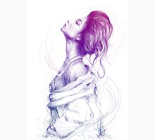 Beautiful Purple Woman Illustration Fashion Beauty Art Unisex T-Shirt