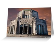 Vista House on Crown Point at Sunset Greeting Card