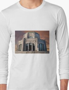 Vista House on Crown Point at Sunset Long Sleeve T-Shirt