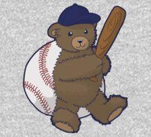 Baseball Bear One Piece - Long Sleeve