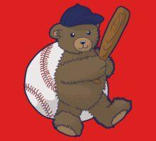 Baseball Bear One Piece - Short Sleeve