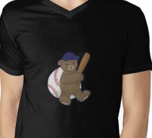 Baseball Bear Mens V-Neck T-Shirt
