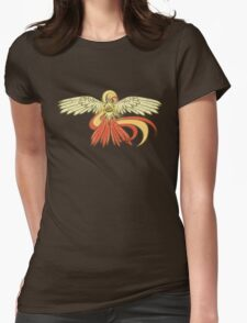 Bird Jesus feat. Helix Fossil- Twitch Plays Pokemon Womens Fitted T-Shirt