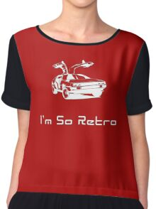 I'm So Retro - 80s Computer Game - Back to Future T-Shirt Chiffon Top