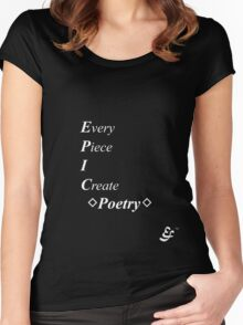 Epic Flow - Poetry, Writing - White Lettering Women's Fitted Scoop T-Shirt