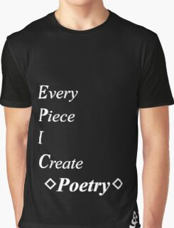 Epic Flow - Poetry, Writing - White Lettering Graphic T-Shirt