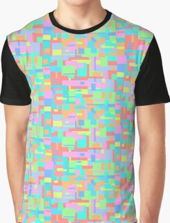 Pastel Glitch Graphic T-Shirt