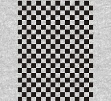 Checks - Black on Transparent Unisex T-Shirt
