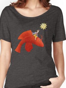 Girl on Flying Fish Women's Relaxed Fit T-Shirt