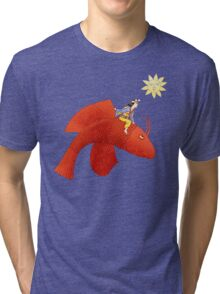 Girl on Flying Fish Tri-blend T-Shirt