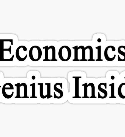 Economics Genius Inside Sticker