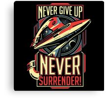 Never Give Up Surrender Canvas Print