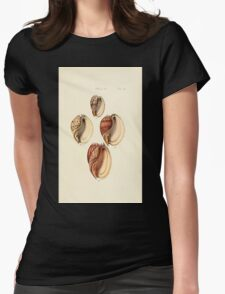 Thesaurus conchyliorum Monographs of genera of shells George Brettingham Sowerby 1887 V1-V5 370 Womens Fitted T-Shirt