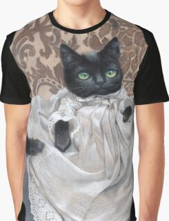 Maurice Edward -Victorian Cat Graphic T-Shirt