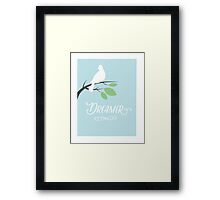 Dreamer - Bird on a Branch Framed Print