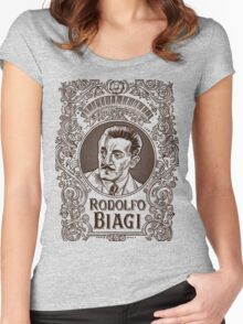 Rodolfo Biagi (in brown) Women's Fitted Scoop T-Shirt