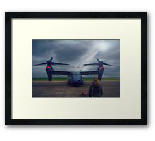 Watching the Apache Arrive Framed Print