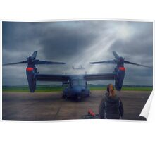 Watching the Apache Arrive Poster