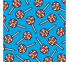 Red, white and blue lollipop pattern Photographic Print