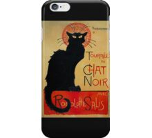 'Tournee du Chat Noir' by Theophile Steinlen (Reproduction) iPhone Case/Skin