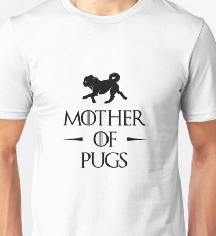 Mother of Pugs - Black Unisex T-Shirt